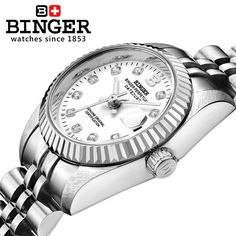 US $89.99 - Switzerland Wristwatches BINGER 18K gold watches women self-wind automatic winding mechanical Wristwatches BG-0375