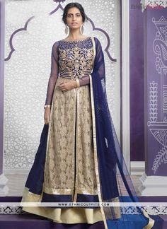 Classical Raw Silk Blue Embroidered Work A Line Lehenga Choli