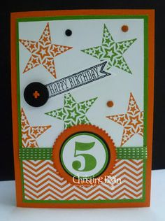 STAMPIN' UP!  SIMPLY STARS FOR A 5-YEAR-OLD!