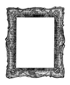 Images  Vintage Graphic  Decorative Square Frame Digital Clipart