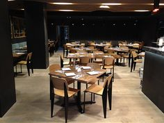 711 metal dinning chairs-- a project in a French Food Hotel in the USA.... metal frame with wooden back rest and seat..... awesome