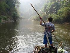 Bajada por el río al norte de Chiang Mai