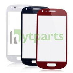 Samsung cell phone parts-Front Outer Screen Glass Lens Replacement for Samsung Galaxy S3 Mini Red