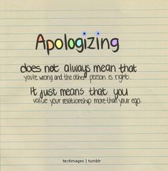 Apology Quotes For Relationships In by @quotesgram