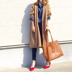 Japan Fashion, Daily Fashion, Everyday Fashion, Love Fashion, Korean Fashion, Womens Fashion, Fall Winter Outfits, Autumn Winter Fashion, Uniqlo Women Outfit