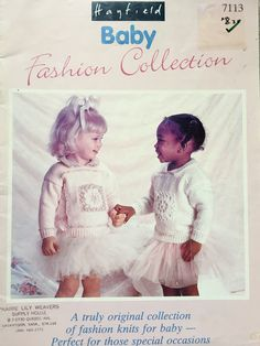 Hayfield Baby Fashion Collection, Baby Knitting Patterns, For 18 to 24 Inch Chest, 13 Designs To Knit For Baby Girls, by OnceUponAnHeirloom on Etsy Knit Fashion, Baby Knitting Patterns, Picture Show, Baby Girls, Special Occasion, Flower Girl Dresses, Lily, Babies, Wedding Dresses
