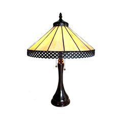 Chloe Lighting MILA Tiffany Style 2 Lt Table Lamp CH15023AM16-TL2 #ChloeLighting #StainedGlass