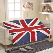 2015 free shipping Sofa mat 130x160cm New Union Jack British UK flag coral fleece home travel blanket on bed, US flag blankets(China (Mainland))