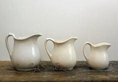 white ironstone | White Ironstone Pitchers / Instant Collection by ThatsVintageBaby