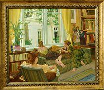 Just Us Girls by David Hettinger Oil ~ 32 x 42