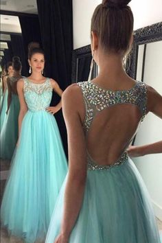 Mint Green Prom Dresses,Backless Evening Gowns,Sexy Formal Dresses,Beaded Prom Fashion Evening Gown,Open Backs Evening Dress Baby Blue Prom Dresses, Pretty Prom Dresses, Open Back Prom Dresses, Prom Dresses 2016, Prom Dresses For Teens, Backless Prom Dresses, A Line Prom Dresses, Formal Dresses, Party Dresses