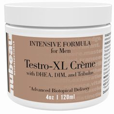 Testro-XL Creme: Best Natural Testosterone Booster for Men DHEA, Tribulus, DIM #nubeau