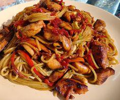 Japchae, Pasta Recipes, Spaghetti, Ethnic Recipes, Food, Essen, Meals, Yemek, Noodle