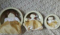 trio de bonecas de pano para nicho