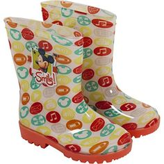 b6de9fa512aa ... Rain Boots for Girls Boys Slip-on Waterproof Welly Gumboots Pink Orange  Junior Sizes 5-13 UK Child Toddlers Children  Amazon.co.uk  Shoes   Bags