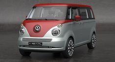 Volkswagen Revival Concept Car by David Obendorfer Volkswagen Transporter, Transporteur Volkswagen, Vw T1, Auto Motor Sport, Sport Cars, Vw Minibus, Combi Wv, Vw Cars, Vw Camper