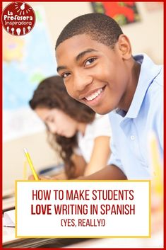 Learn how to create a writing activity that will get even your most reluctant students excited to write in Spanish, while reinforcing target grammar and vocabulary! Spanish Lesson Plans, Spanish Lessons, Teaching Spanish, Spanish Classroom, Comprehension Activities, Reading Comprehension, Class Activities, Writing Activities, Writing Practice
