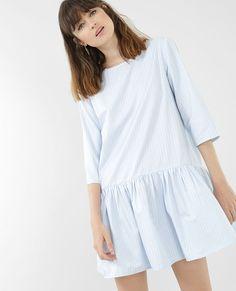 Robe fines rayures Bleu