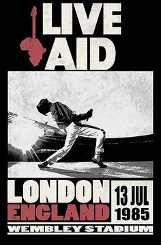 'Live Aid at Wembley' Photographic Print by SoCalKid Bedroom Wall Collage, Photo Wall Collage, Poster Wall, Poster Prints, Rock Vintage, Rock Band Posters, Queen Poster, Vintage Concert Posters, Movie Posters