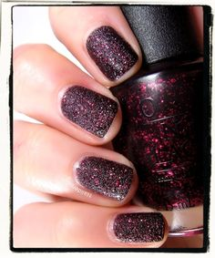 """Stay the Night"" by OPI liquid sand"