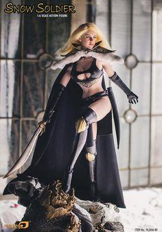 "1//6 Female Black Cloak Grim Reaper Clothes Clothing for 12/"" Phicen Figure Body"