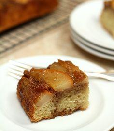 Upside Down Pear Crunch Coffee Cake from Elizabeth Falkner — Creative Culinary :: Food & Cocktail Recipes - A Denver, Colorado Food & Cocktail Blog