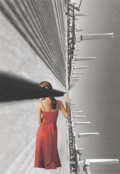 """Saatchi Art Artist Greet Weitenberg; Collage, """"Beachgirl 5"""" #art"""