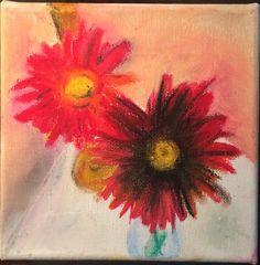 Flowers x Oil pastel on canvas Leaf Tattoos, My Arts, Pastel, Oil, Canvas, Flowers, Tela, Cake, Canvases