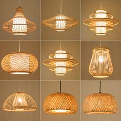 Smarter Shopping, Better Living! Aliexpress.com Led Licht, Bamboo Light, Bamboo Lamp, Wicker Pendant Light, Pendant Lamp, Light Pendant, Hanging Light Fixtures, Hanging Lights, Home Decor Accessories