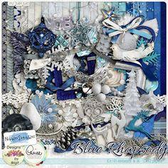 Blue Rhapsody kit by Nibbles Skribbles. $6.99 at the Digital Scrapbooking Studio.
