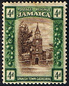Jamaica 1921 SG 97 Spanish Town Cathedral Fine Mint Scott 94 Other Jamaican Stamps HERE