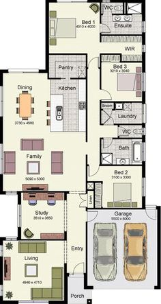 Luxury floor plans for homes with 4 Bedrooms House Layout Plans, Dream House Plans, Modern House Plans, House Layouts, Small House Plans, Modern House Design, House Floor Plans, Small Floor Plans, Villa Design