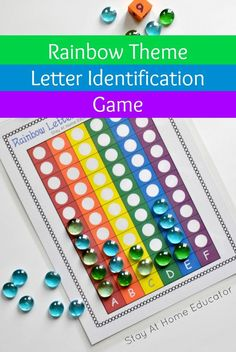 Rainbow Letters Race to the Top Letter Identification Game – Find Your St Patrick's Day Activities Letter Games, Alphabet Games, Teaching The Alphabet, Alphabet Letters, Letter Tracing, Alphabet Soup, Writing Activities For Preschoolers, Alphabet Activities, Preschool Alphabet