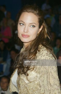 Actress Angelina Jolie attends the World Premiere of 'Shark Tale' in San Marco Square, as part of the 61st Venice Film Festival on September 10, 2004 in Venice, Italy.