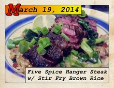 Blue Apron Hanger steak stir fry