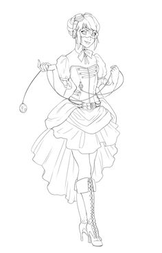 Ladybug's steampunk outfit for you cosplayers out there! Miraculous Ladybug Oc, Cartoon Coloring Pages, Cat Noir, Steampunk Clothing, Diy Clothes, Fan Art, Cool Stuff, Mlb, Cartoons