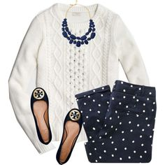 A fashion look from February 2016 featuring J.Crew sweaters, Sessùn capris and Tory Burch flats. Browse and shop related looks.