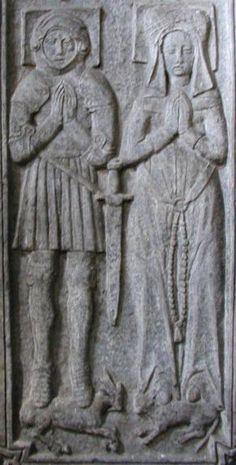 Sir Henry Boynton and wife Isabella. West Yorkshire, Effigy, Catholic Saints, 15th Century, Tudor, Archaeology, Beautiful Images, Genealogy, Yards