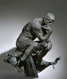 The Thinker: 1880-1881 by Auguste Rodin - bronze (Cleveland Museum of Art, Cleveland, Ohio)