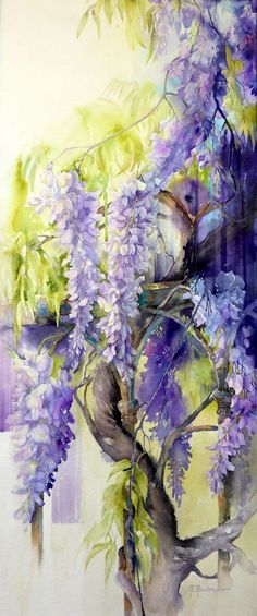 A radiant painting.Michela # Moudru Marie-Claire - me its clutches without mercy.neither was it demanded. Art Floral, Watercolour Painting, Watercolor Flowers, Painting & Drawing, Watercolors, Marie Claire, Painting Inspiration, Flower Art, Art Drawings
