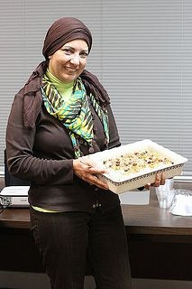 """Meet Aida!  A spring 2012 ETS graduate.  Her business is""""Cooking and Beyond"""", acookbook of Egyptian recipes and its influences fromhistory, culture, family heritage, religion, social life, and humanity"""