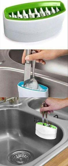 Escova para lavar talheres
