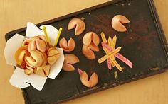 Paula Deen recipe for fortune cookies. Looks so easy and a cute idea ...