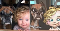 Robert DeJesus is an artist from America who brilliantly transforms strangers and their animals into fun cartoon illustrations. Cartoon Drawing Tutorial, Cartoon Girl Drawing, Girl Cartoon, Drawing Tutorials, Sailor Scouts, Robert Dejesus, Comic Character, Character Design, Learn To Draw Anime