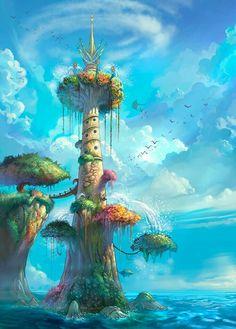Art Of Animation Fantasy Digital Illustration Fantasy Places, Fantasy World, Fantasy House, Fantasy Landscape, Landscape Art, Art Environnemental, Map Art, Fantasy Setting, Fantasy Kunst