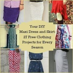Your DIY Maxi Dress and Skirt: 34 Free Clothing Projects for Every Season from www.allfreesewing.com