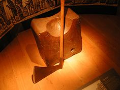 Here is the last chopping block and axe used on Tower Hill. It was used to behead the Earl of Essex, Robert Devereux, a favorite of Queen Elizabeth who was found guilty of treason. On 25 February 1601, he was beheaded on Tower Green, becoming the last person to be beheaded in the Tower of London.