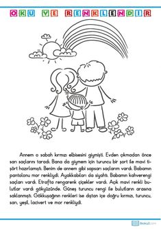 Pre Primary School, Learn Turkish Language, Coloring Pages, Diy And Crafts, Comics, Learning, Turkish Language, Reading, Quote Coloring Pages