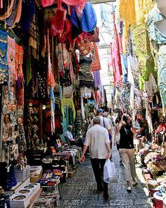 Mercado Arabe, Jerusalem un lugar lleno de musica y seda