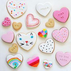 Love the kitty heart cookie! www.mim-pi.com poesjes koekje